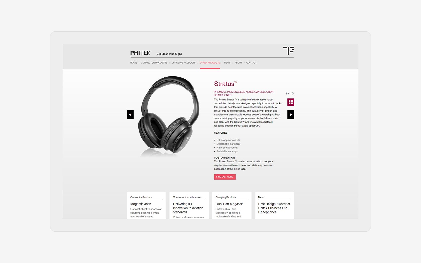 Phitek Desktop Product Page