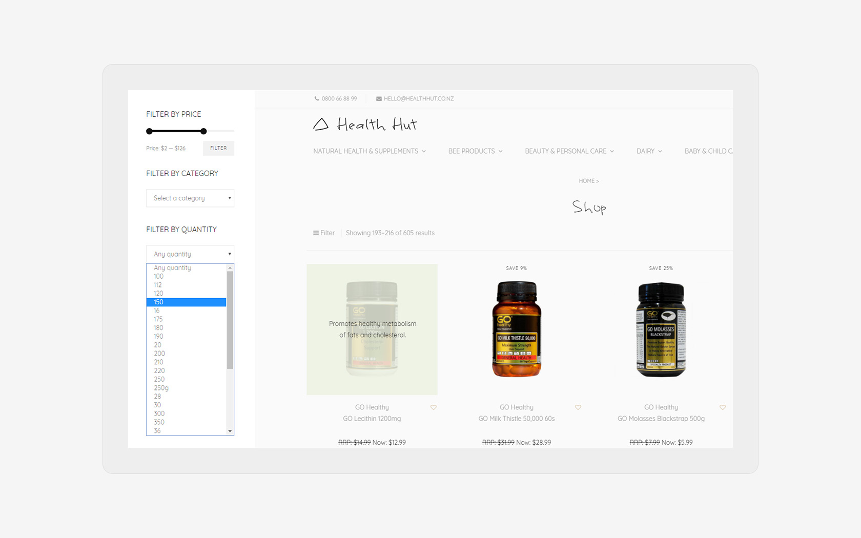 Healthhut Desktop Bee Products