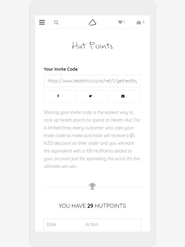 Healthhut Mobile Hutpoints